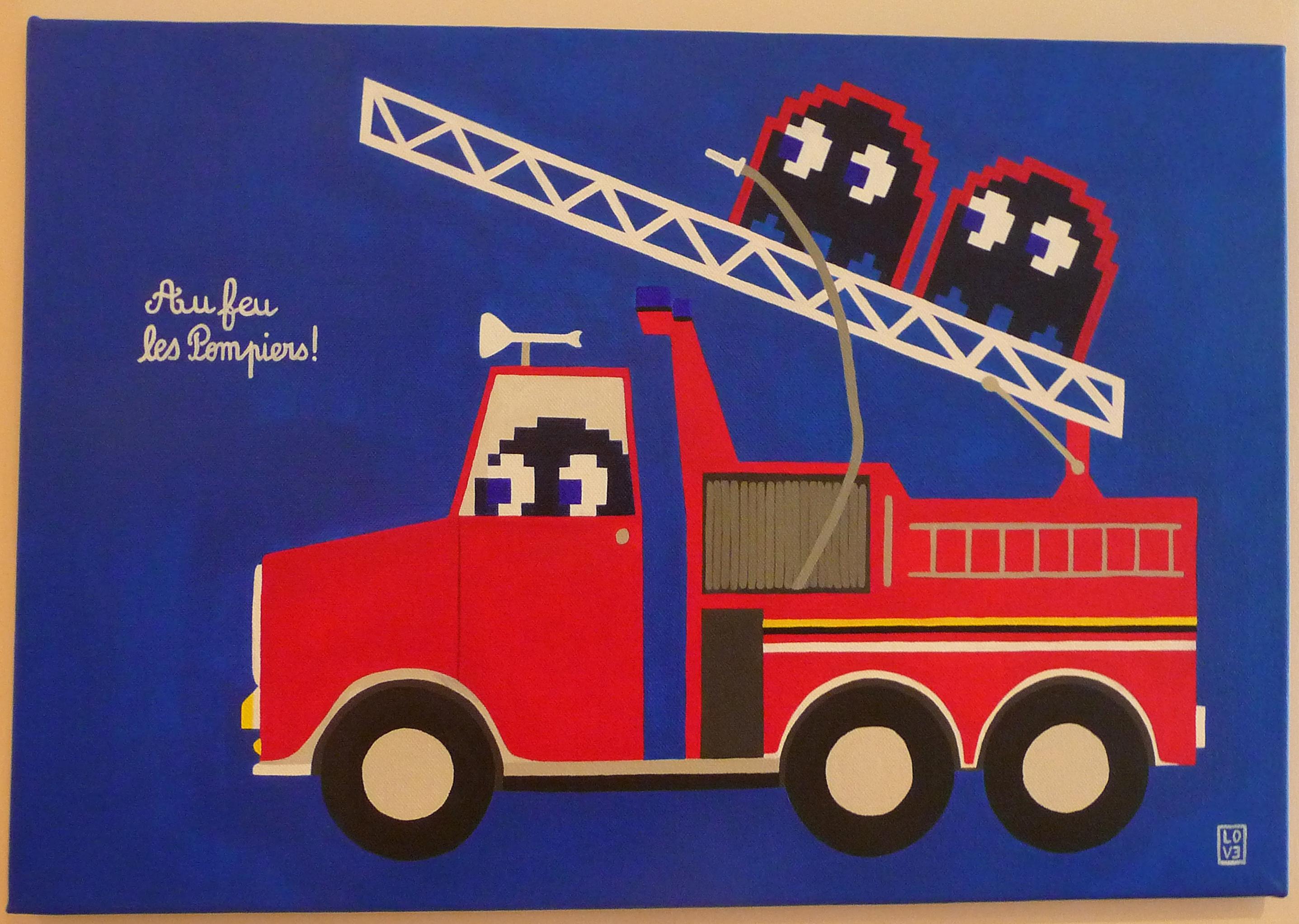 Pixel Art Camion De Pompier Facile